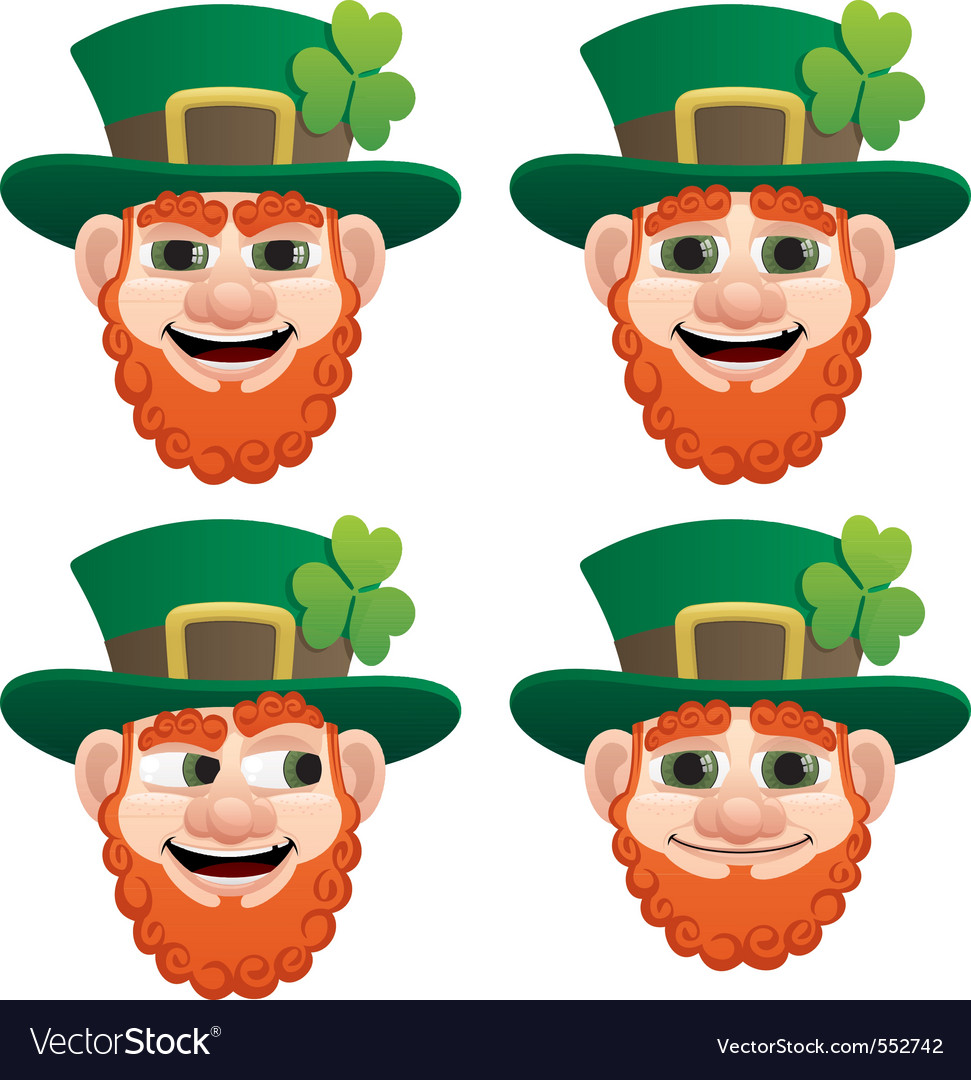 Leprechaun head vector | Price: 1 Credit (USD $1)