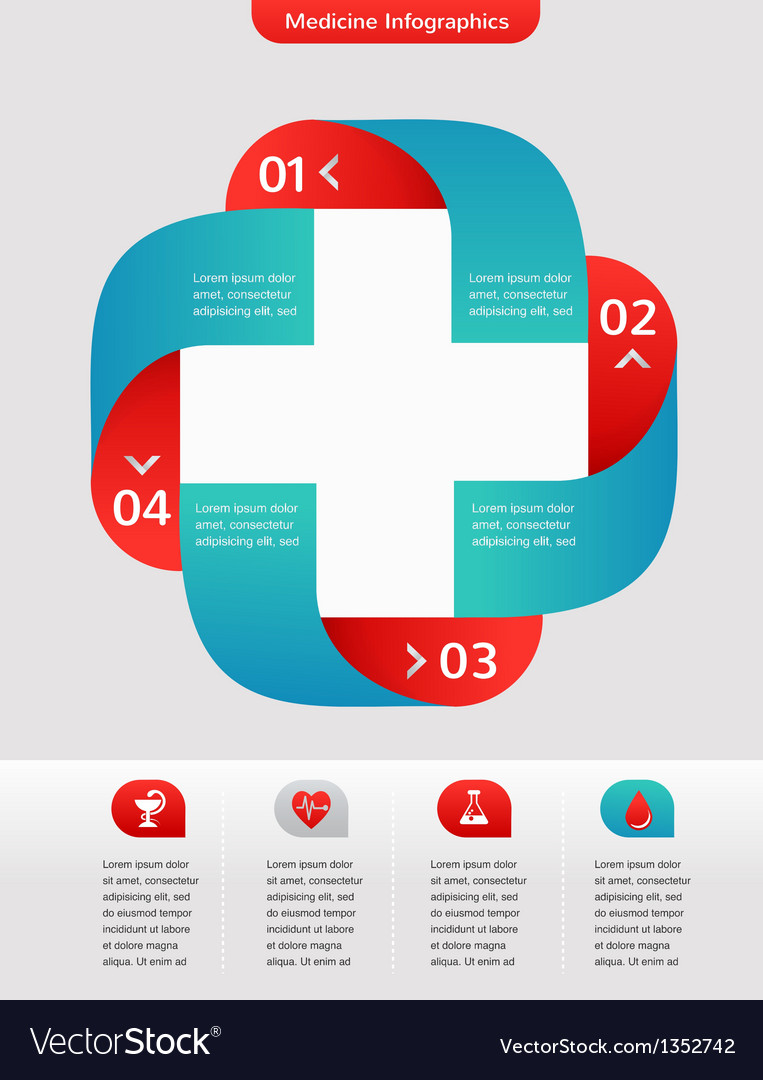 Medical and healthcare background infographic vector | Price: 1 Credit (USD $1)