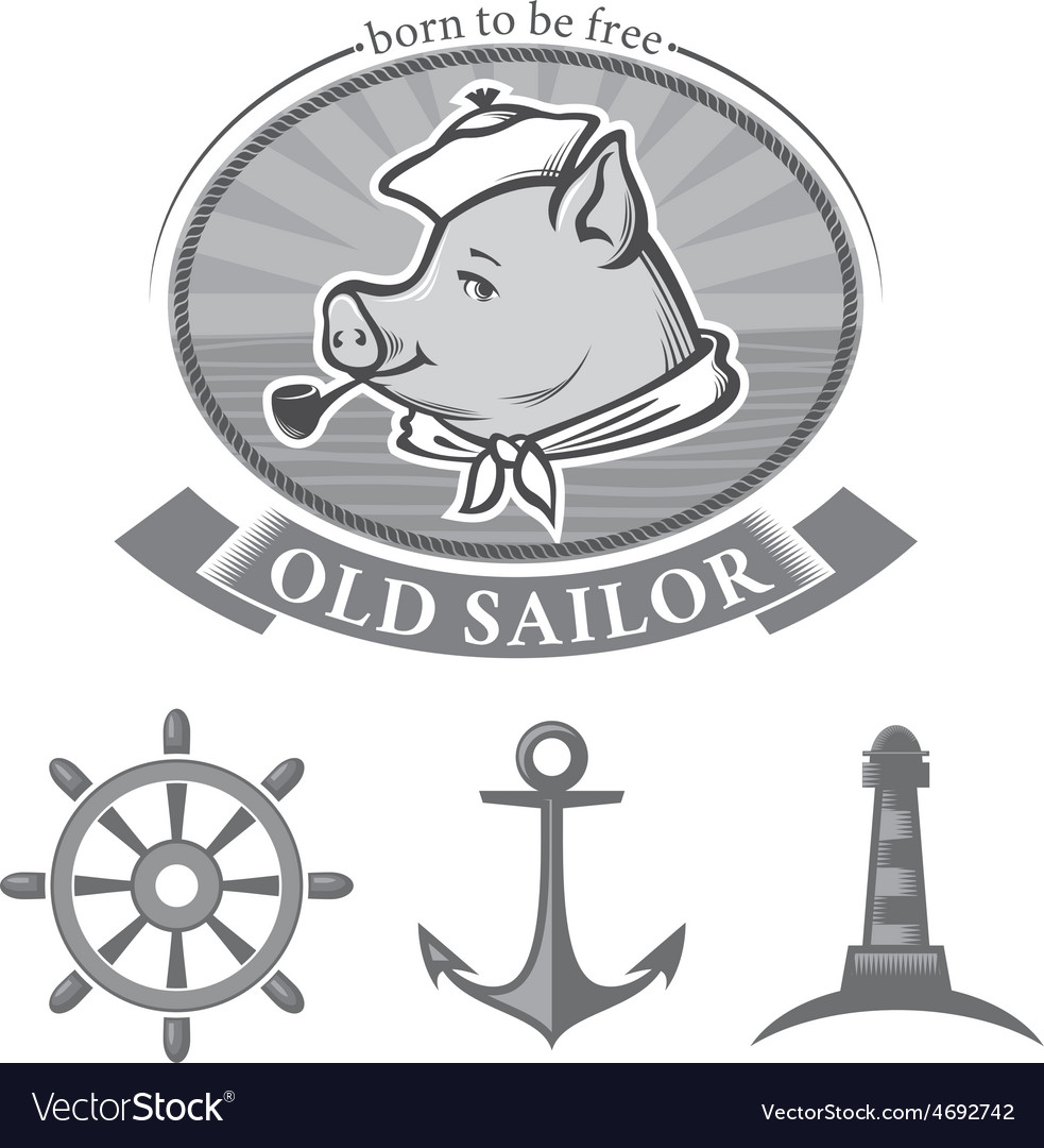 Old sailor vector | Price: 1 Credit (USD $1)