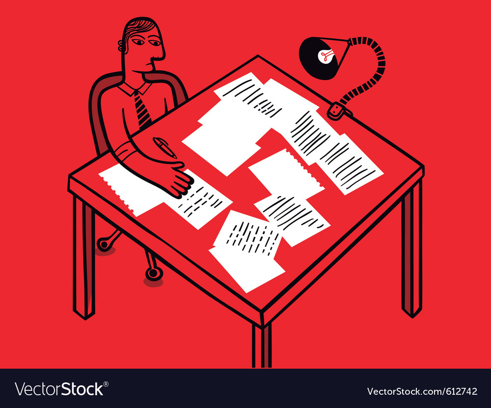 Paperwork clerk vector | Price: 3 Credit (USD $3)