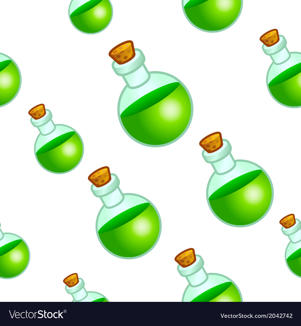 Round botle background vector