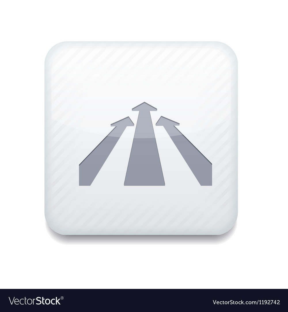 White arrow icon eps10 easy to edit vector | Price: 1 Credit (USD $1)