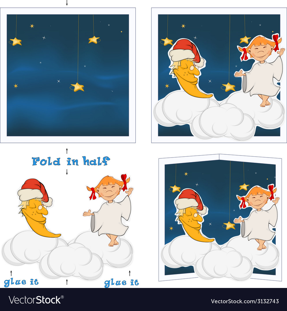 3d christmas post card vector | Price: 1 Credit (USD $1)