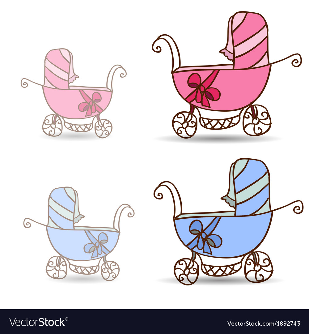 Baby stroller for girls and boys vector | Price: 1 Credit (USD $1)