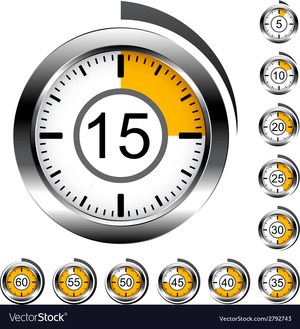 Chrome round timers vector | Price: 1 Credit (USD $1)