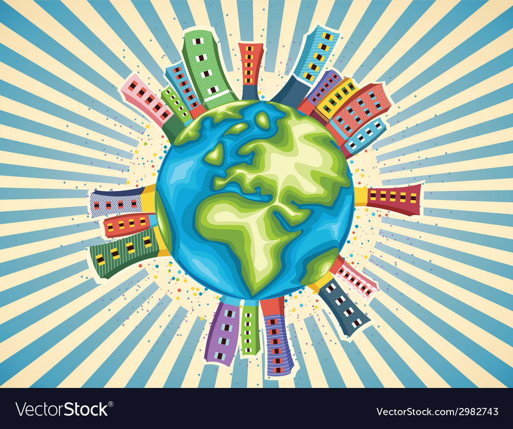 Colorful world day vector | Price: 1 Credit (USD $1)