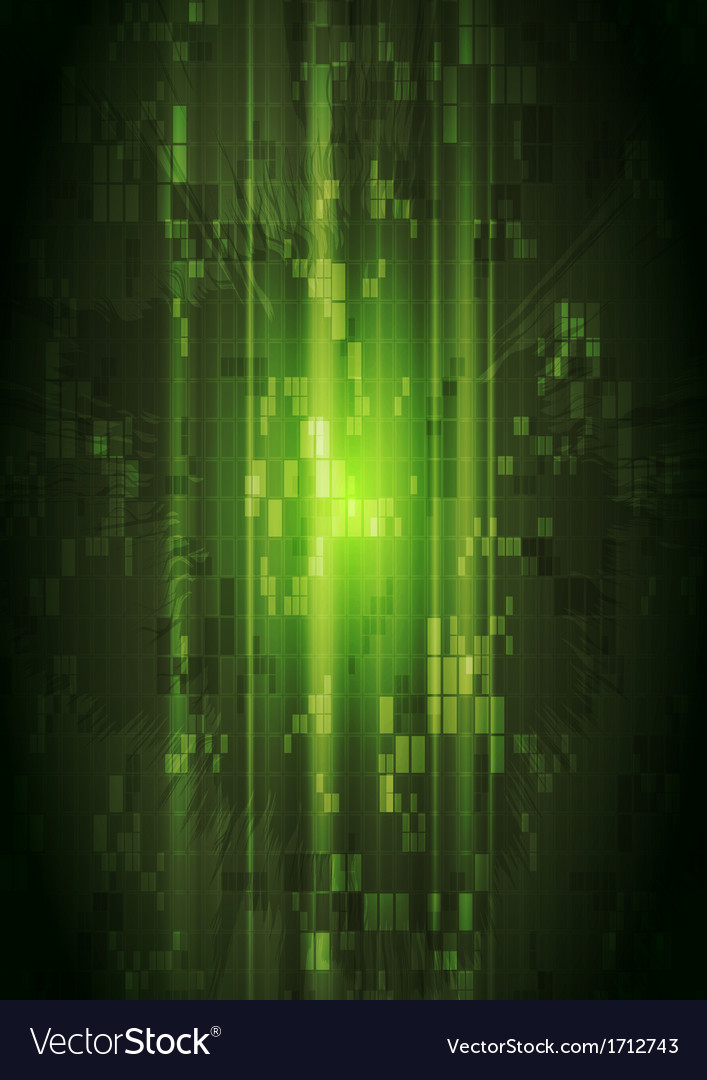 Dark green hi-tech design vector | Price: 1 Credit (USD $1)