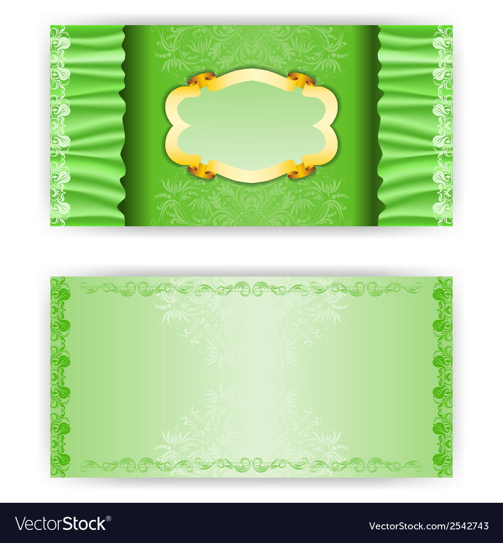 Elegant template luxury invitation with green vector | Price: 1 Credit (USD $1)