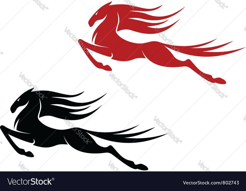 Equestrian sports logo vector