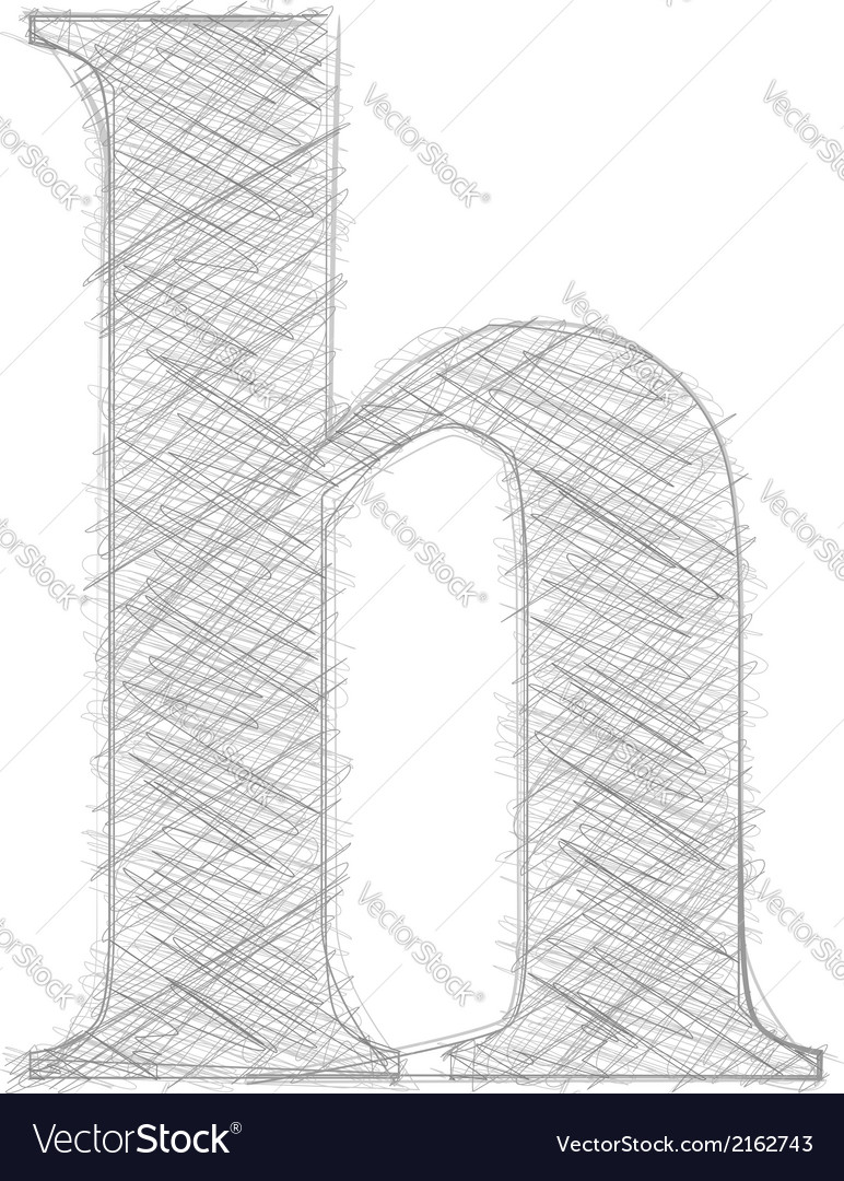 Freehand typography letter h vector | Price: 1 Credit (USD $1)