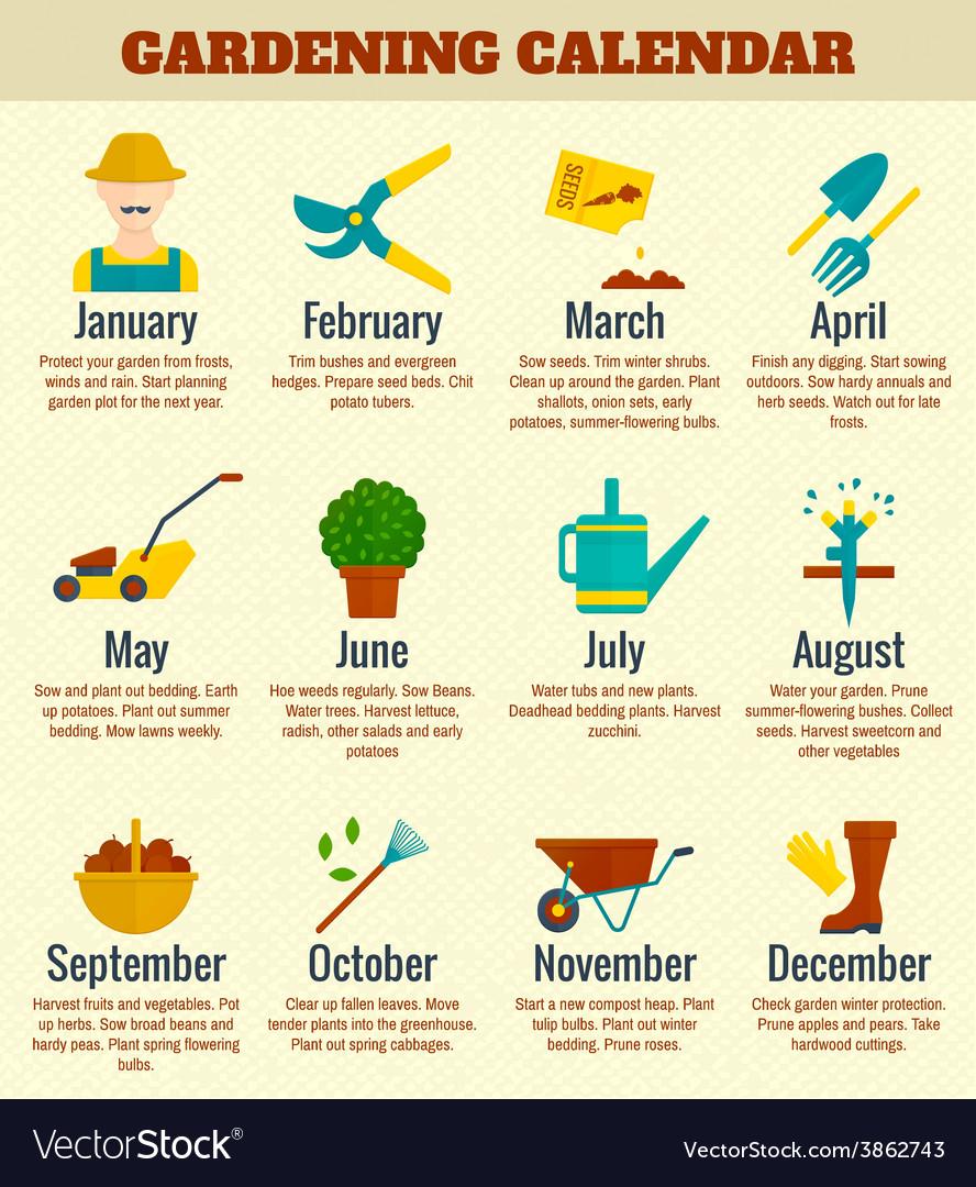 Gargen calendar vector | Price: 1 Credit (USD $1)