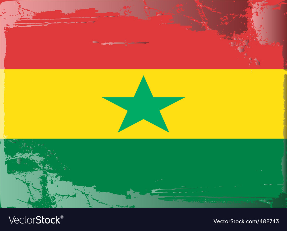 Ghana national flag vector | Price: 1 Credit (USD $1)