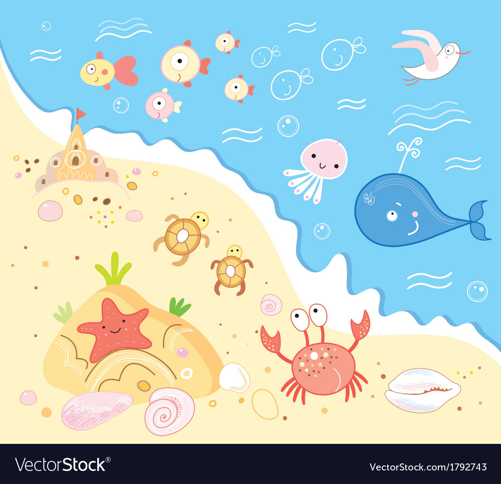 Marine life vector | Price: 1 Credit (USD $1)