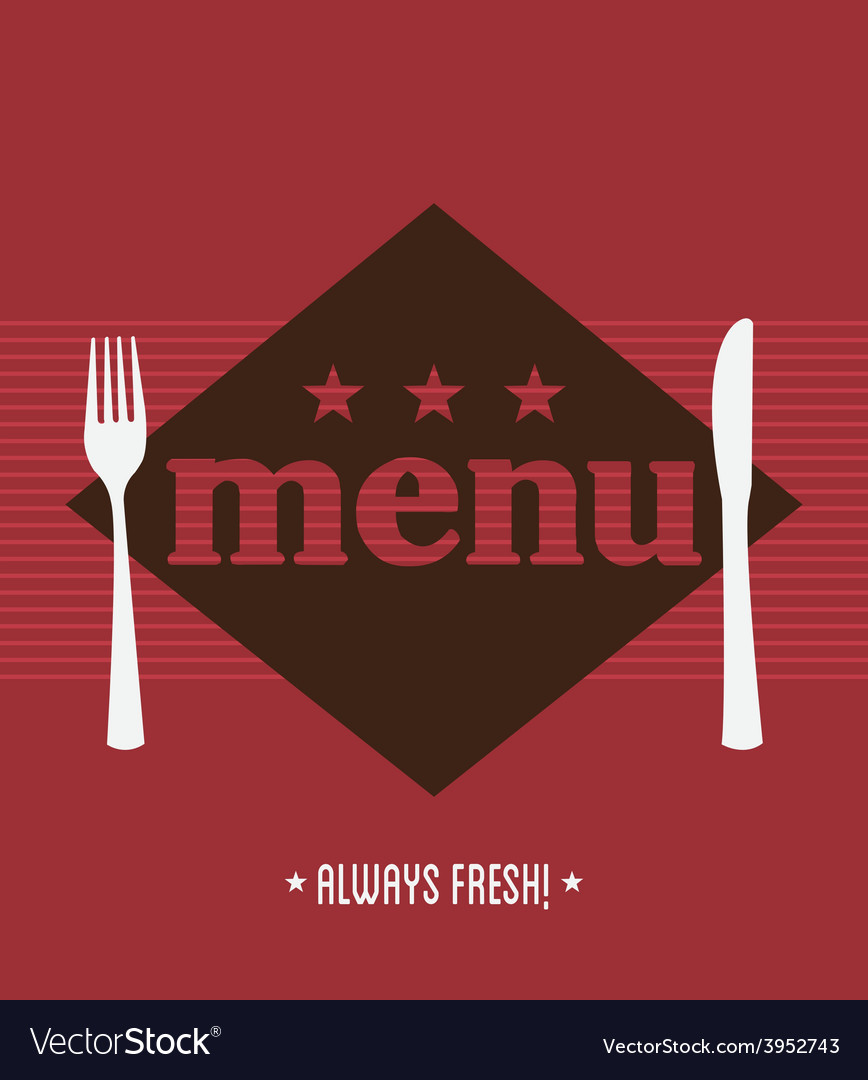 Menu restaurant vector | Price: 1 Credit (USD $1)
