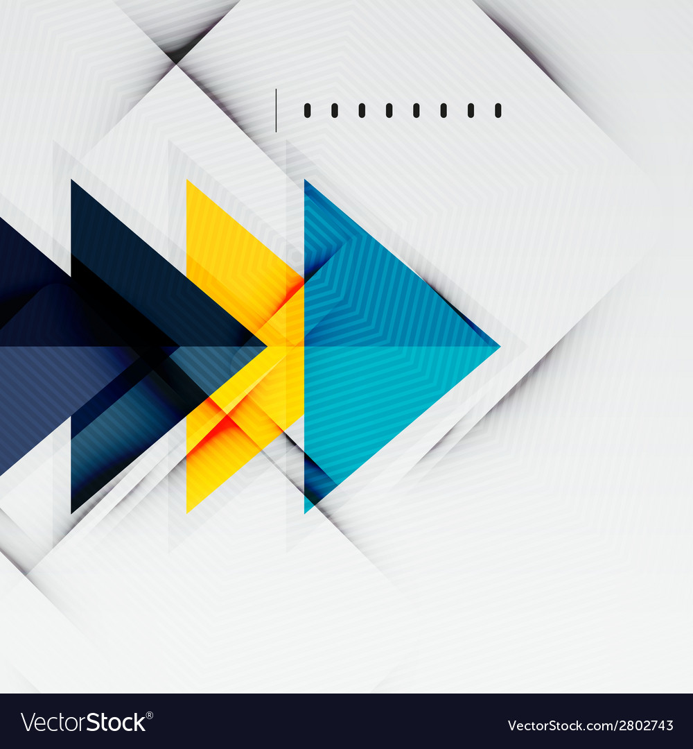 Modern glossy triangles business layout vector | Price: 1 Credit (USD $1)