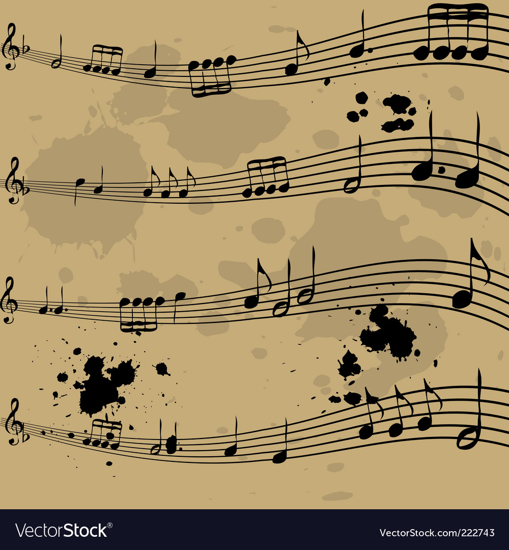 Music notebook vector | Price: 1 Credit (USD $1)