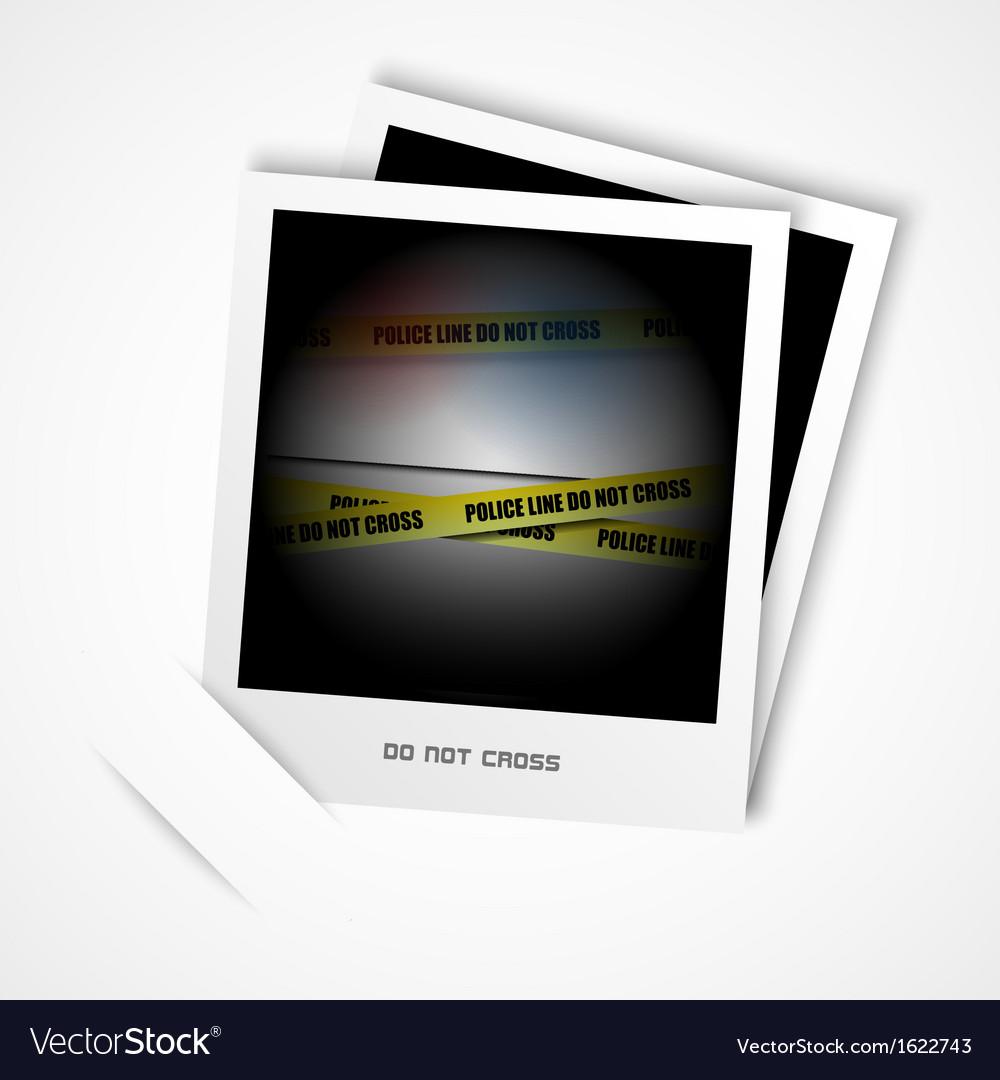 Police line vector