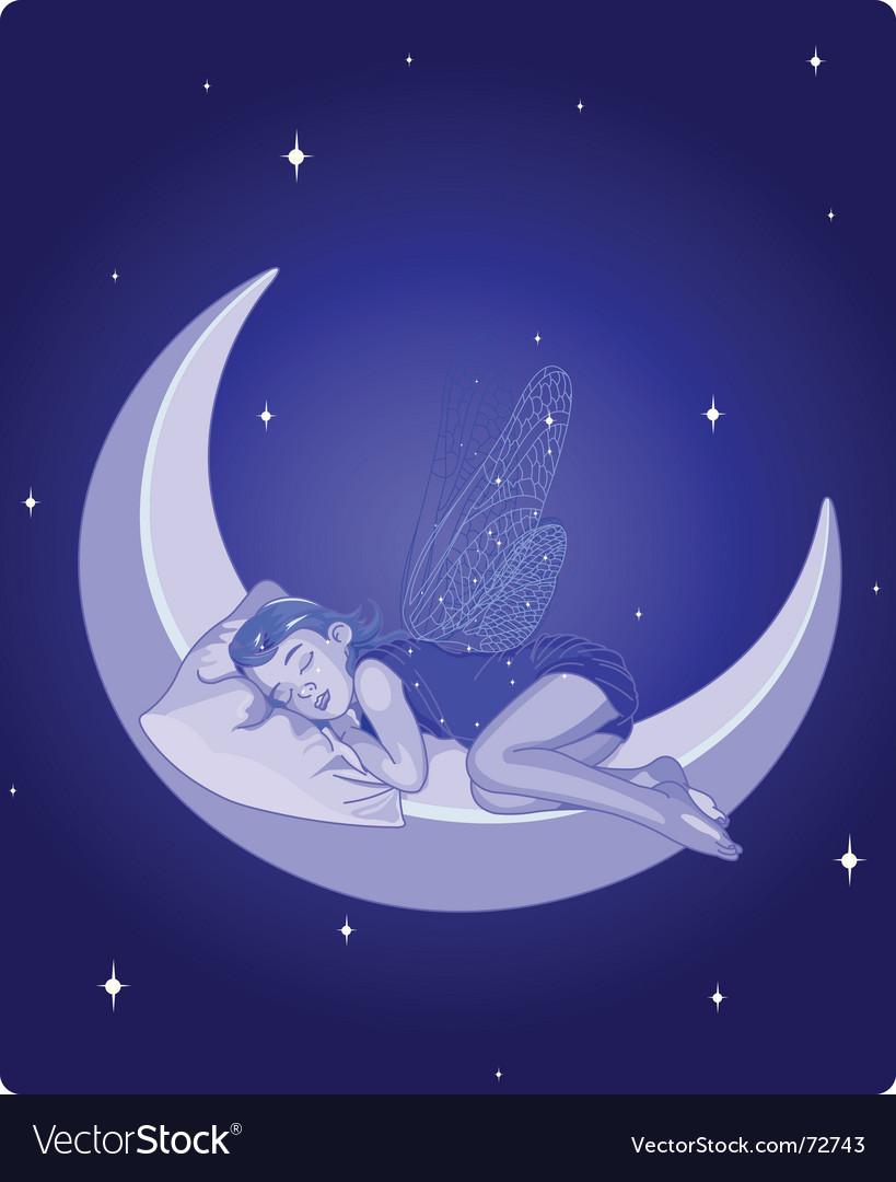 Sleeping fairy vector | Price: 3 Credit (USD $3)
