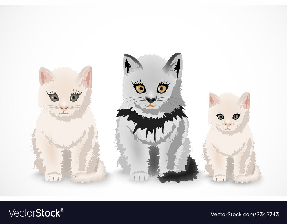 Three cats family vector | Price: 1 Credit (USD $1)