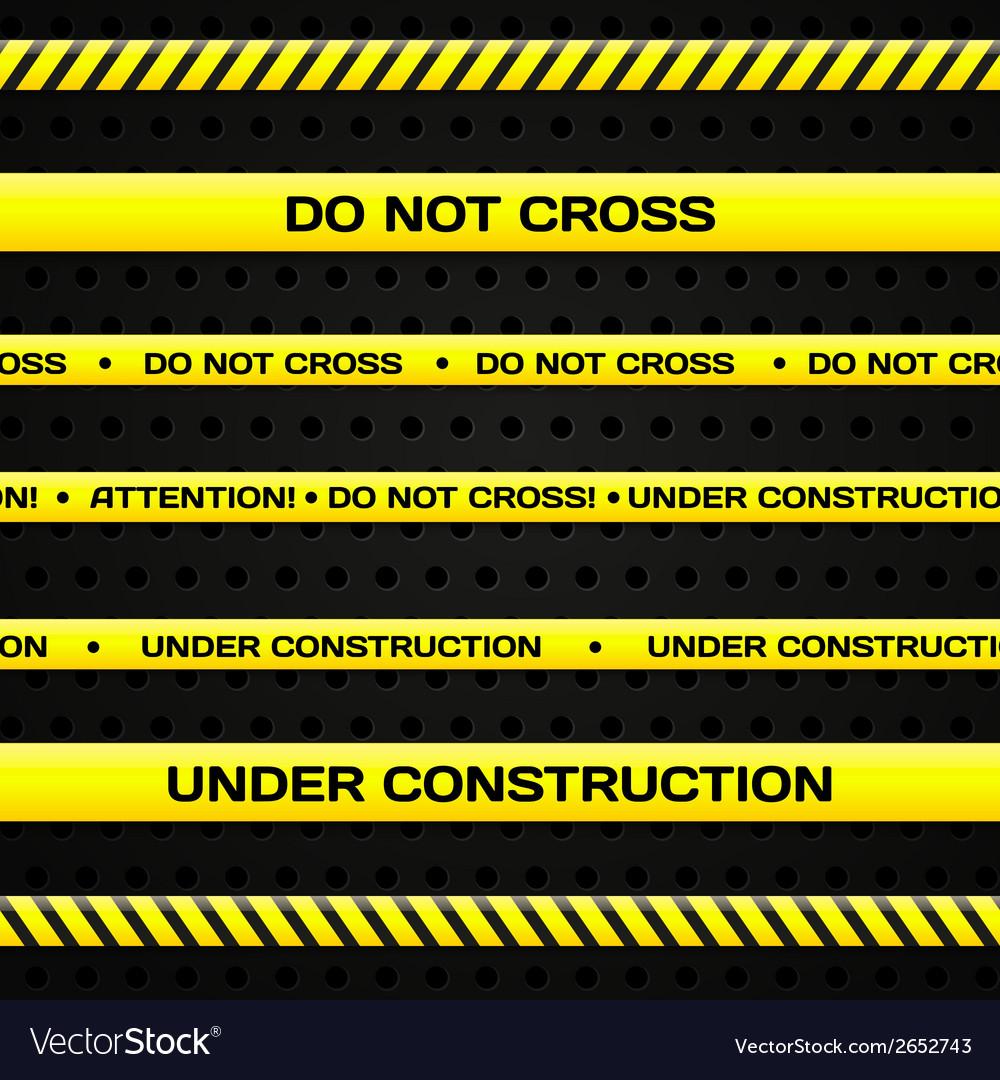 Under construction lines vector | Price: 1 Credit (USD $1)