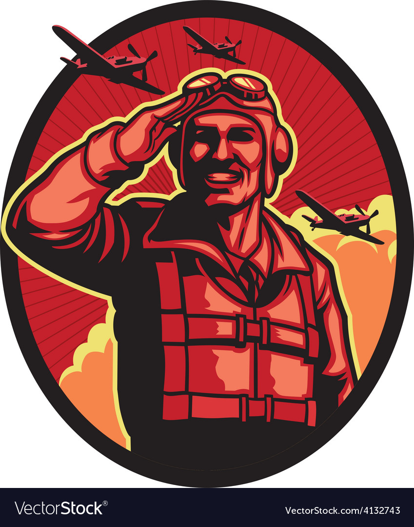 World war pilot vector | Price: 3 Credit (USD $3)