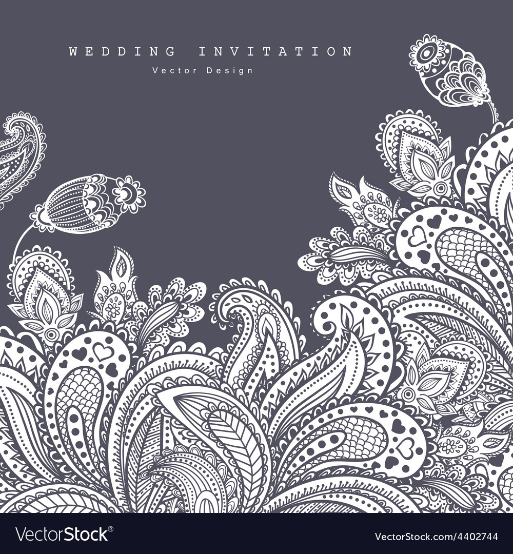 Beautiful indian floral ornament wedding vector | Price: 1 Credit (USD $1)