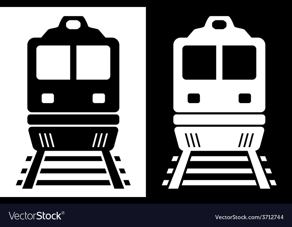 Black and white isolated train vector | Price: 1 Credit (USD $1)