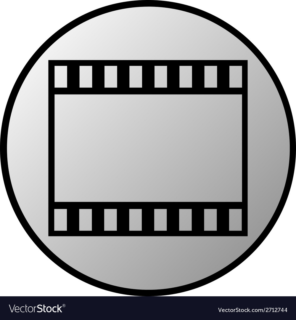 Film strip button vector | Price: 1 Credit (USD $1)