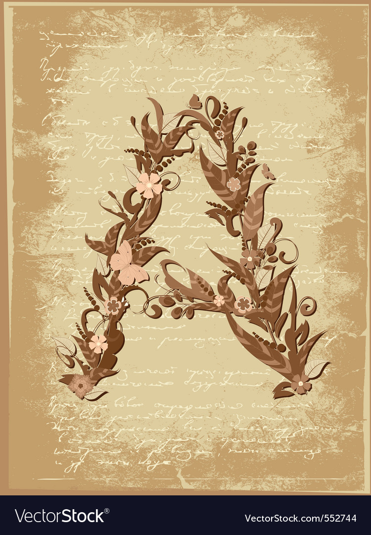 Floral letter vector   Price: 1 Credit (USD $1)