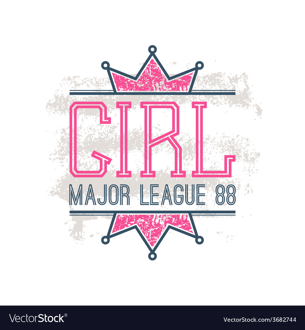 Girl sport emblem vector | Price: 1 Credit (USD $1)