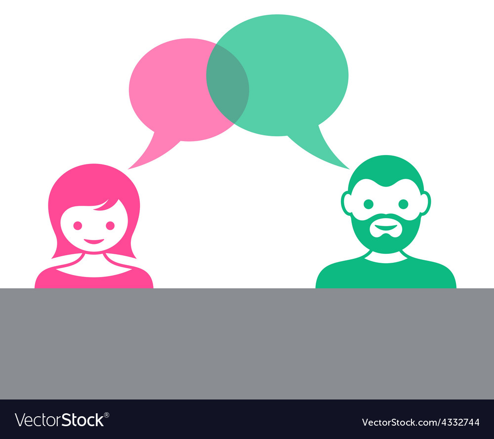 Man and woman dialog vector | Price: 1 Credit (USD $1)