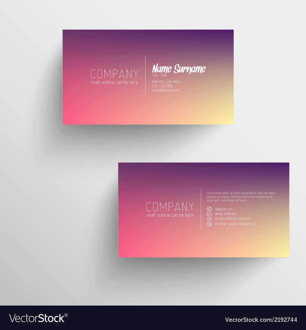 Modern business card template with blurred vector | Price: 1 Credit (USD $1)