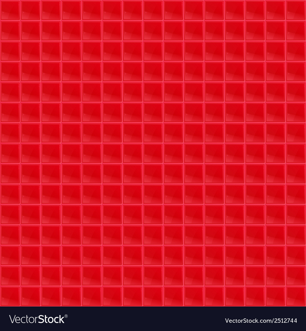Red pattern tetrahedral mosaic vector | Price: 1 Credit (USD $1)