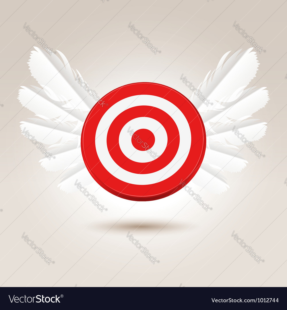 Target with wings vector | Price:  Credit (USD $)