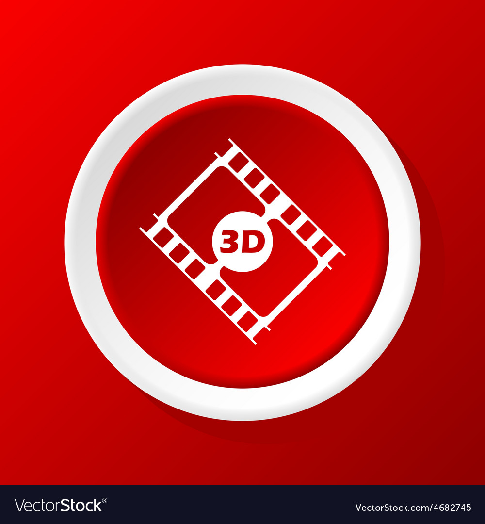 3d film icon on red vector | Price: 1 Credit (USD $1)