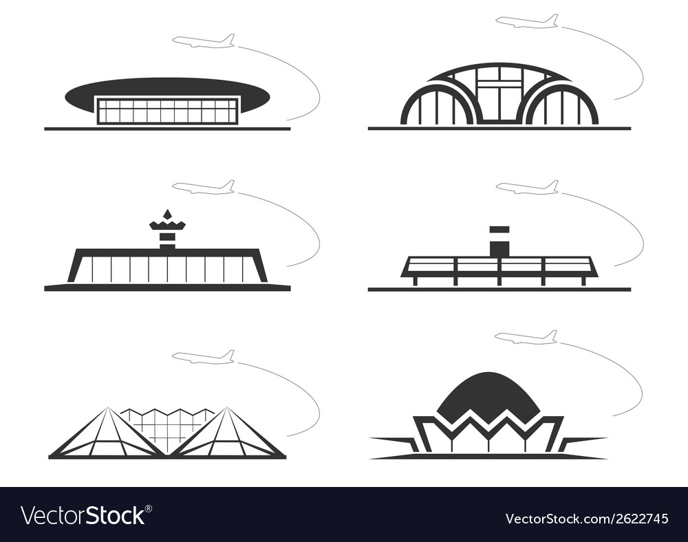 Airport buldings vector | Price: 1 Credit (USD $1)