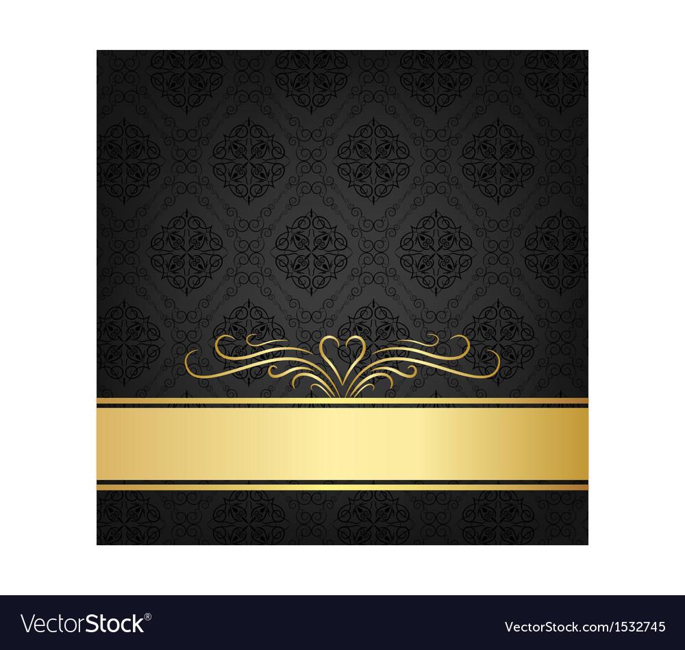 Black celebration card vector | Price: 1 Credit (USD $1)