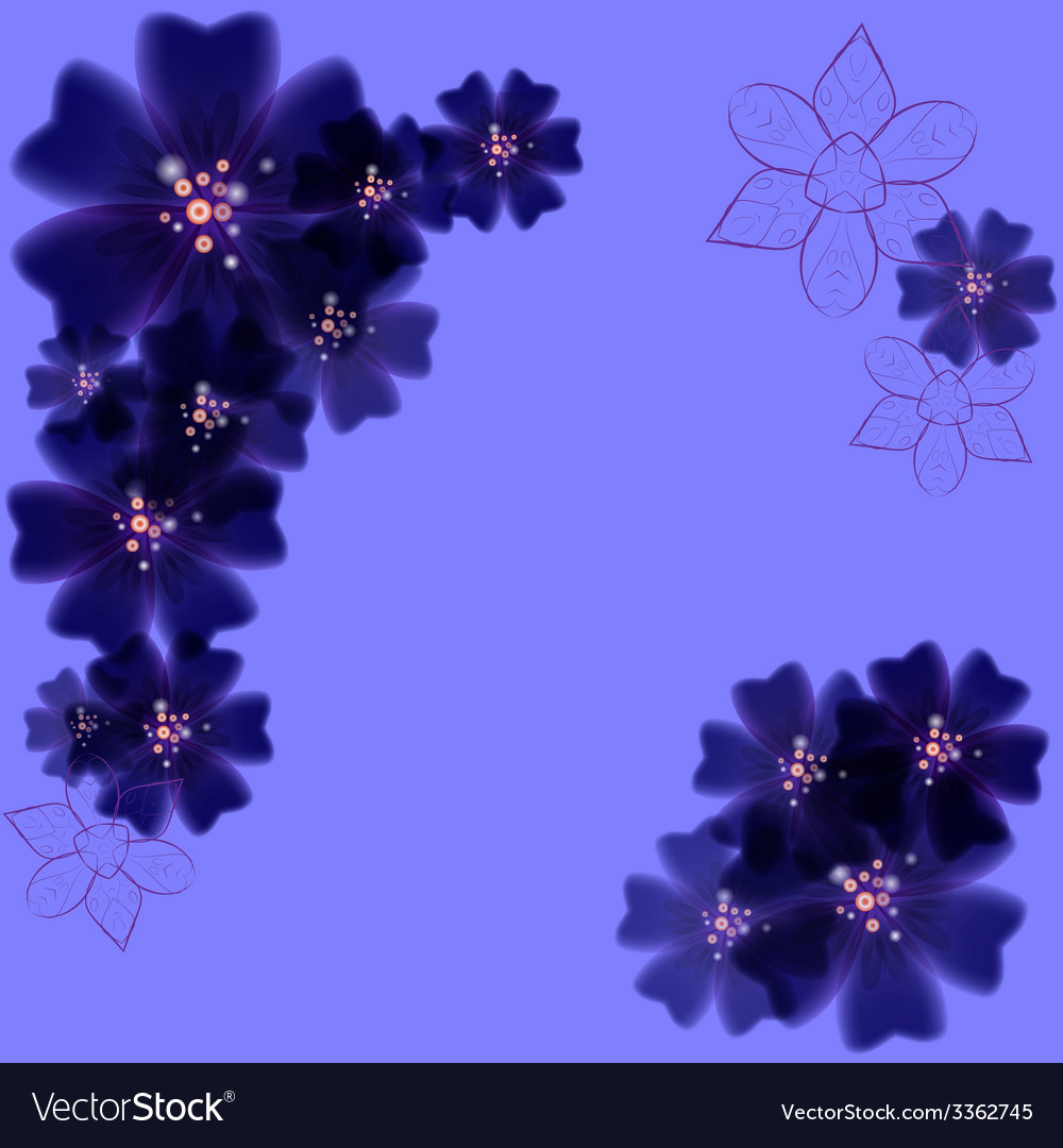 Blooming background with purple flowers vector   Price: 1 Credit (USD $1)