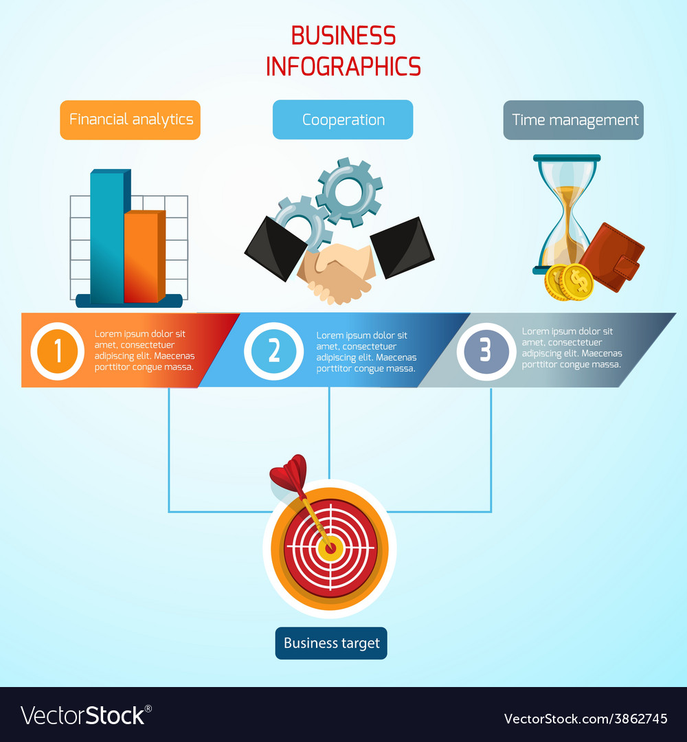 Business infographics set vector | Price: 1 Credit (USD $1)