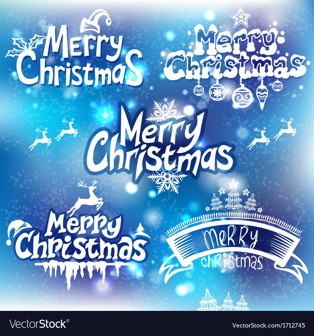 Christmas handwriting typography vector | Price: 1 Credit (USD $1)