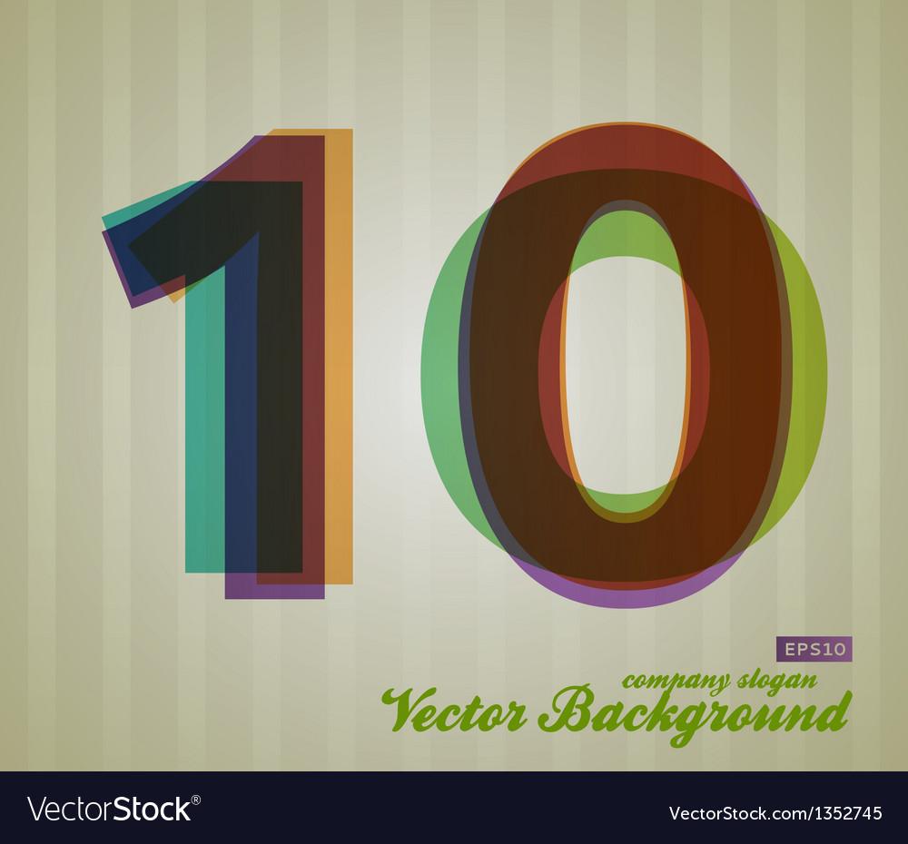 Color transparency symbol 10 vector | Price: 1 Credit (USD $1)