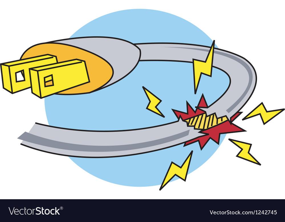 Electric power hazard vector | Price: 1 Credit (USD $1)
