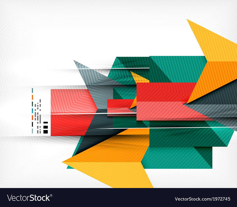 Geometrical colorful shapes abstract background vector | Price: 1 Credit (USD $1)