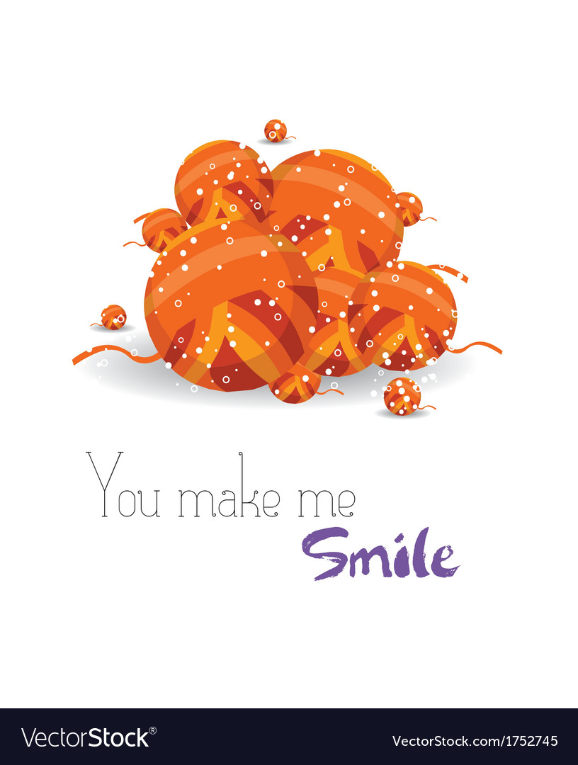 Happy holiday you macke me smile vector   Price: 1 Credit (USD $1)