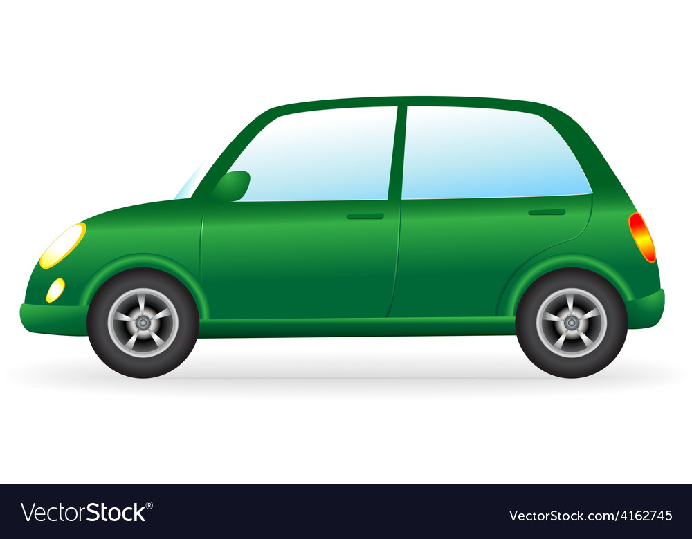 Isolated green retro car on white background vector | Price: 1 Credit (USD $1)