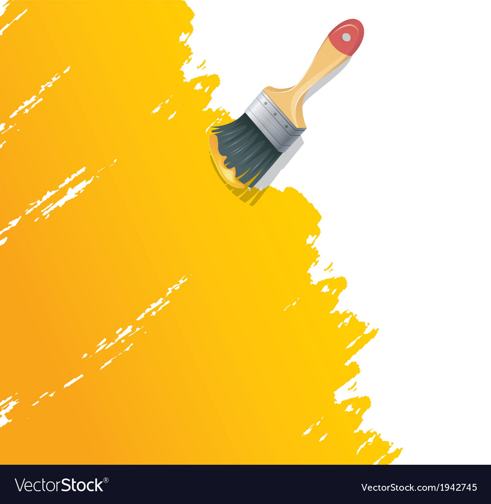 Paint brush with splash vector | Price: 1 Credit (USD $1)