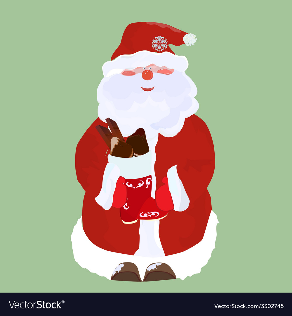 Santa claus with candy vector | Price: 1 Credit (USD $1)