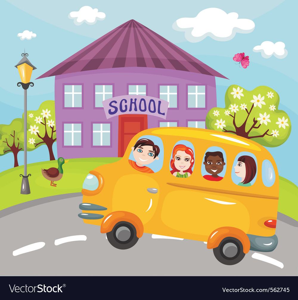 Schoolbus vector | Price: 3 Credit (USD $3)