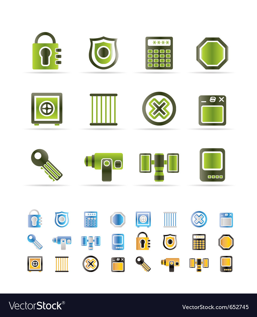 Security and business icons vector | Price: 1 Credit (USD $1)