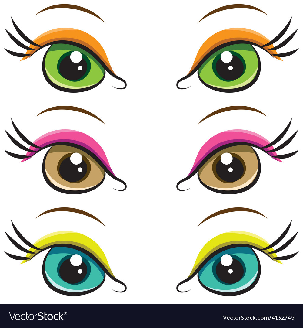 Set of pairs of eyes vector | Price: 1 Credit (USD $1)